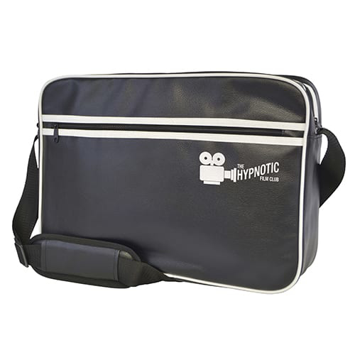 Retro Style Zipped Laptop Bag - Branded