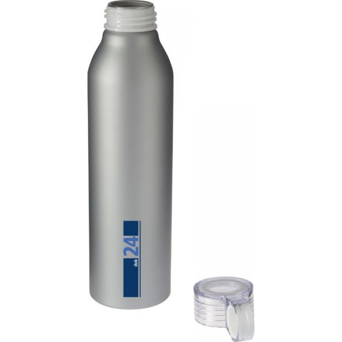Loop Aluminum Sports Bottle Silver - printed with your logo