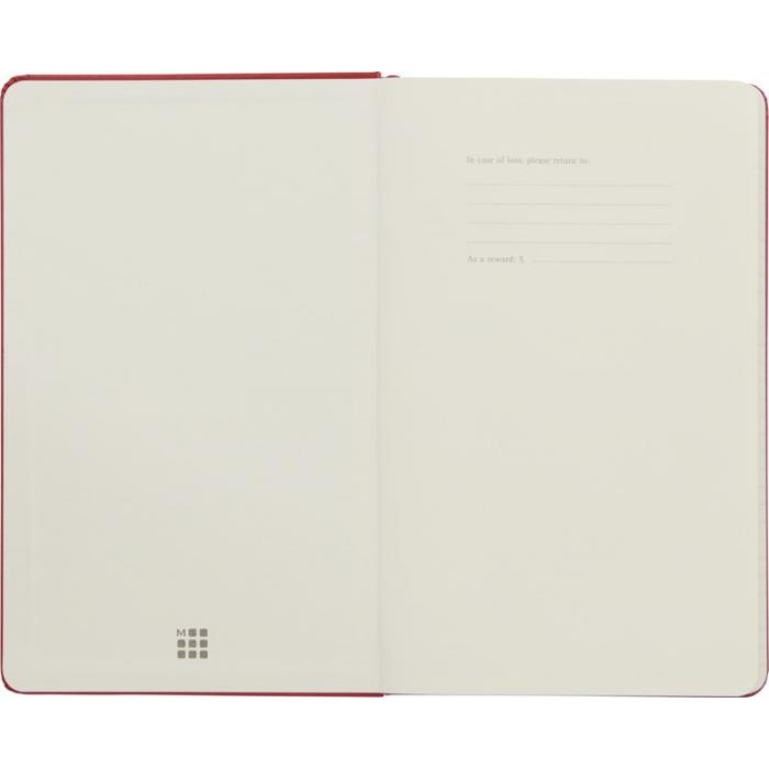 Large Moleskine Hardback Ruled Notebook - Inside