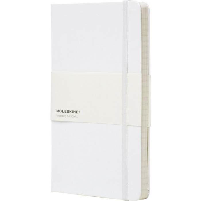 Large Moleskine Hardback Ruled Notebook - White