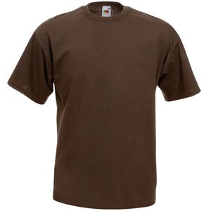 Fruit of the Loom Value Weight T-Shirt - Chocolate