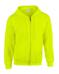 Gildan Zipped Hoodie - Safety Green