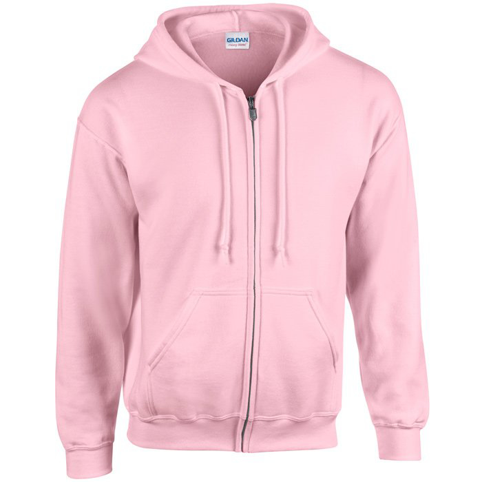 Gildan Zipped Hoodie - Light Pink