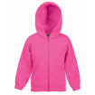 Fruit of the Loom Childrens Hoodie - Fuchsia