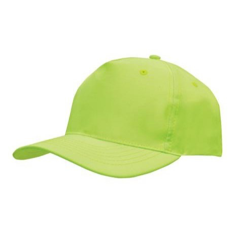 Polyester Twill Budget Cap - High Viz Green