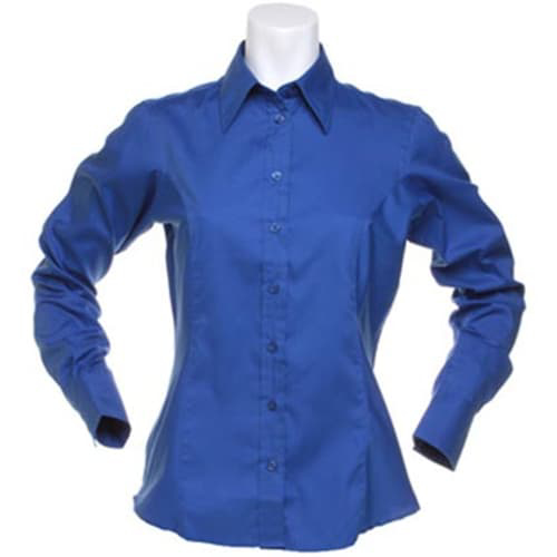 Kustom Kit Ladies Long Sleeve Shirt - Royal