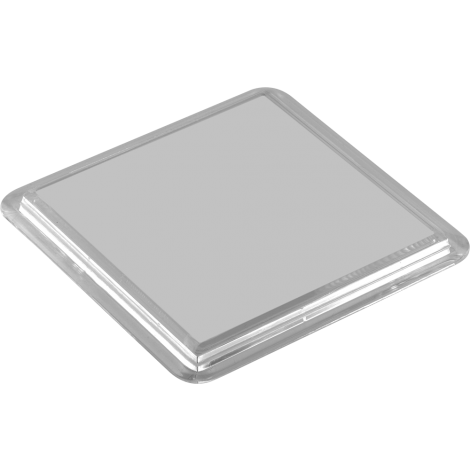 Insert Coaster - Square Plastic with Paper Insert