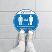 Round Anti-Slip Social Distancing Floor Stickers